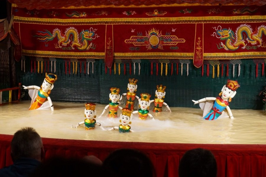 The Golden Dragon water puppet theatre